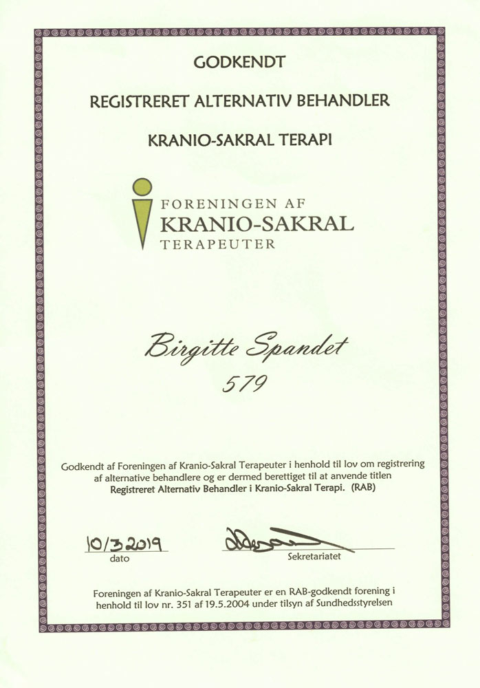 BirgitteDiplom 10 - Spandet Terapi